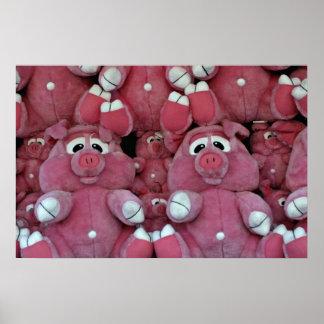 Stuffed animals at amusement park posters