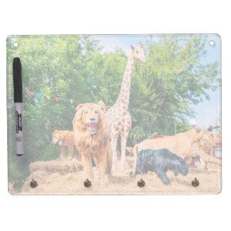 Stuffed animals dry erase board with keychain holder