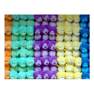 Stuffed animals postcard