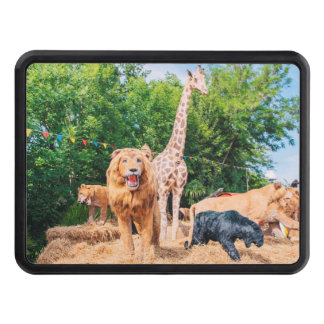 Stuffed animals trailer hitch cover