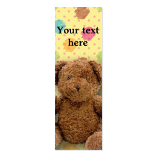 Stuffed Bear Bookmark Pack Of Skinny Business Cards