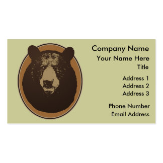 Stuffed Brown Bear Head on the Wall Business Card