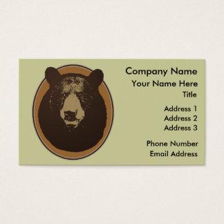 Stuffed Brown Bear Head on the Wall Business Card
