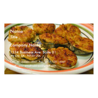 Stuffed Clams Food Dinner Cooking Pack Of Standard Business Cards