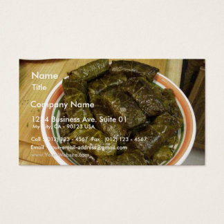 Stuffed Grapes Leaves Business Card
