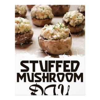 Stuffed Mushroom Day - Appreciation Day Letterhead
