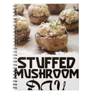 Stuffed Mushroom Day - Appreciation Day Spiral Notebook