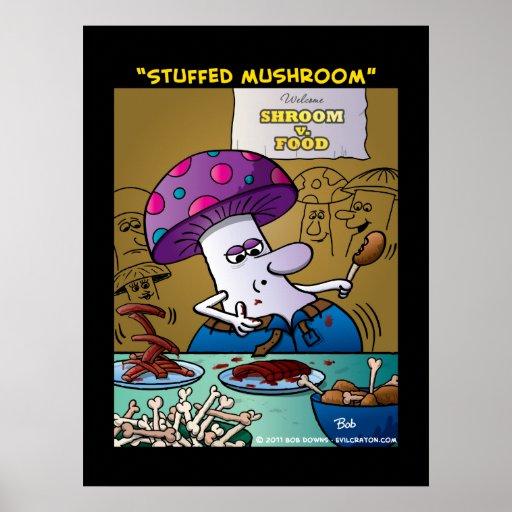 """""""Stuffed Mushroom"""" Print"""