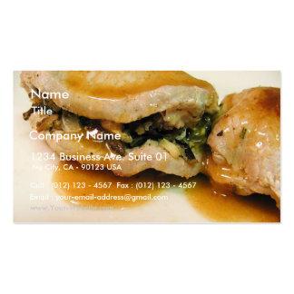 Stuffed Porkchops Food Dinner Gravy Pack Of Standard Business Cards