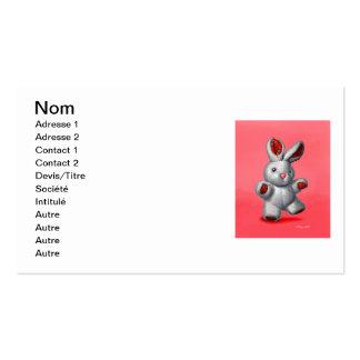 Stuffed rabbit pack of standard business cards