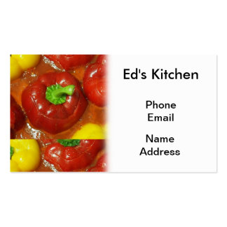 Stuffed Red and Yellow Bell Peppers Double-Sided Standard Business Cards (Pack Of 100)