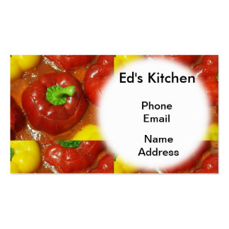 Stuffed Red and Yellow Bell Peppers Pack Of Standard Business Cards