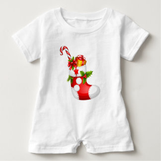 Stuffed Stocking Baby Romper