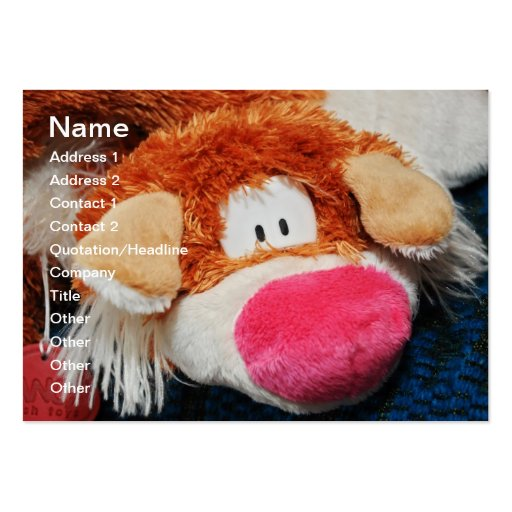 Stuffed toy business card templates