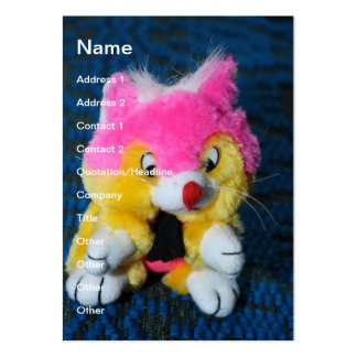 Stuffed toy pack of chubby business cards