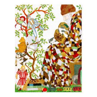 Stuffing Christmas Stockings Postcard