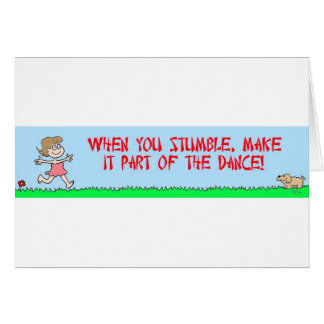stumble dance card