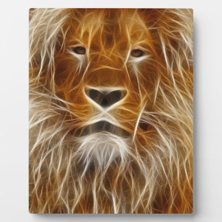 Stunning Abstract Lion Head; Art with Easel Plaque