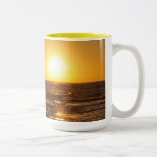 Stunning Aloha Sunrise Mug: large 17 oz. Two-Tone Coffee Mug