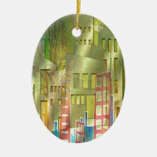 Stunning architecture cityscape art accessories ceramic ornament