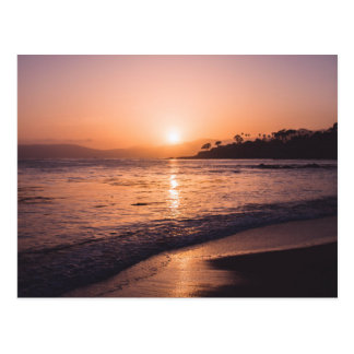 Stunning Beach Sunset Postcard