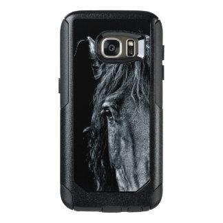 Stunning black horse portrait OtterBox samsung galaxy s7 case