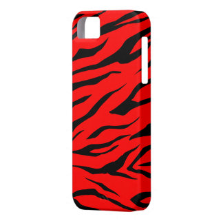 Stunning Black/Red Tiger Print - iPhone 5 Case