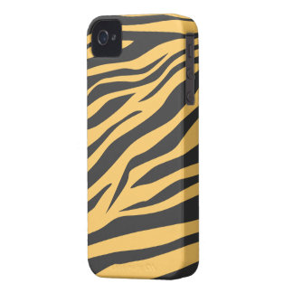 Stunning Black/Tan Zebra Print - iPhone 4/4s Case