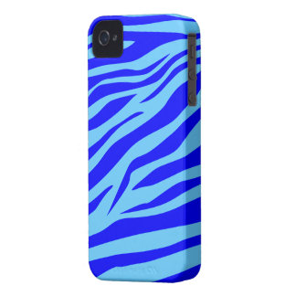 Stunning Blue/Aqua Zebra Print - iPhone 4/4s Case