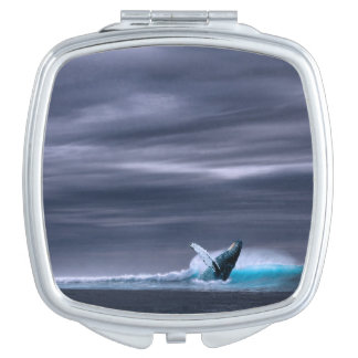 Stunning blue whale makeup mirror