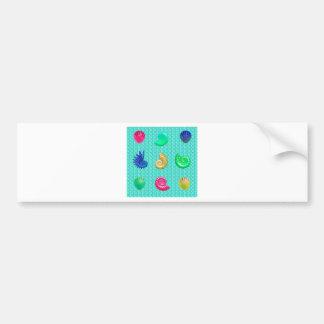 Stunning Bright Seashell Blue Beach Pattern Bumper Sticker