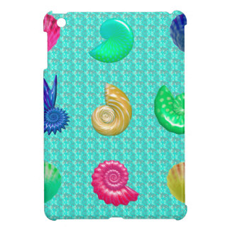 Stunning Bright Seashell Blue Beach Pattern iPad Mini Case