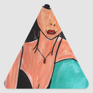 Stunning Brunette Triangle Sticker