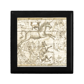 Stunning Canis Minor vintage star chart circa 1822 Keepsake Box