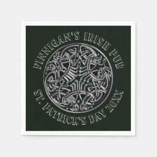 Stunning Celtic St. Patrick's Day Napkin