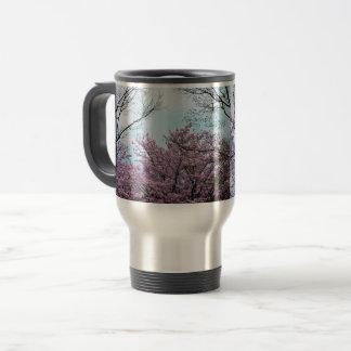 🌸↷Stunning Cherry Blossom Flower Travel Mug↶🌸 Travel Mug