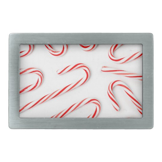 Stunning Christmas Candy Canes Belt Buckle