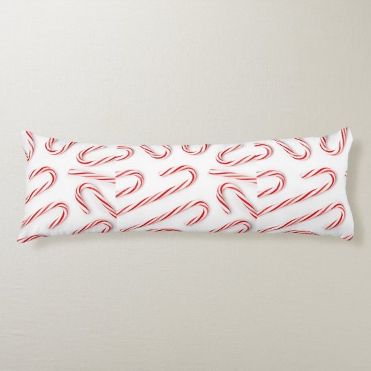 Stunning Christmas Candy Canes Body Pillow