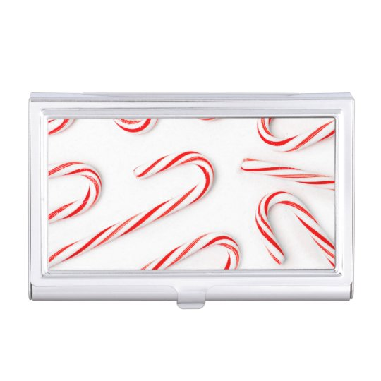 Stunning Christmas Candy Canes Business Card Holder