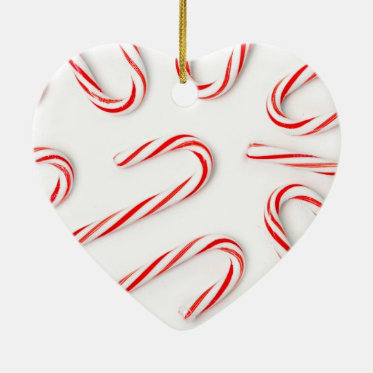 Stunning Christmas Candy Canes Ceramic Ornament