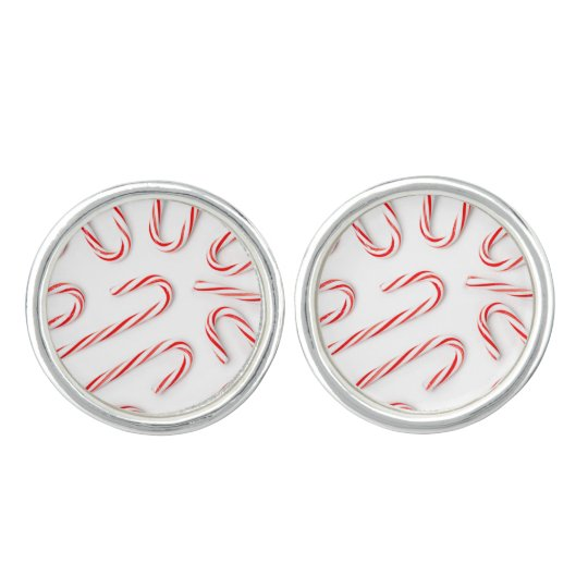 Stunning Christmas Candy Canes Cuff Links