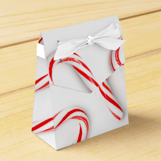 Stunning Christmas Candy Canes Favor Box