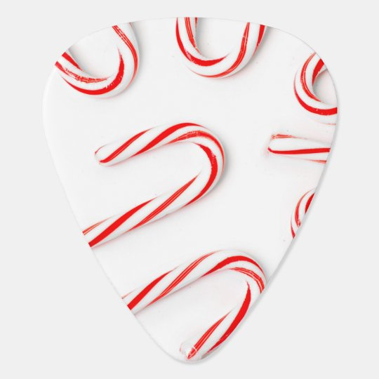 Stunning Christmas Candy Canes Guitar Pick