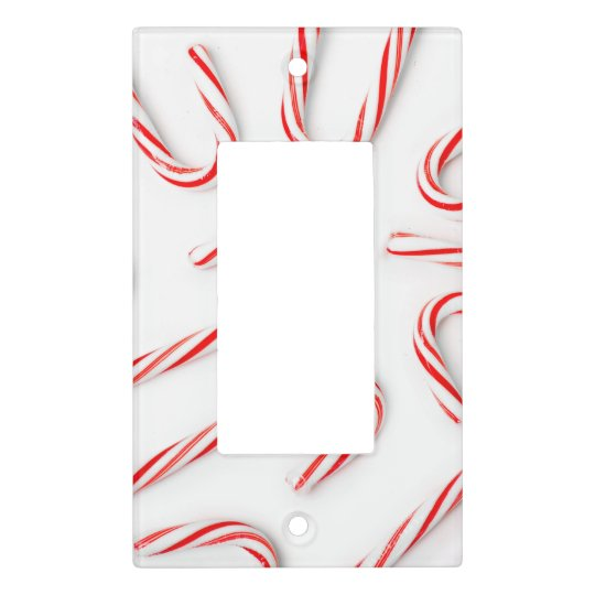 Stunning Christmas Candy Canes Light Switch Cover