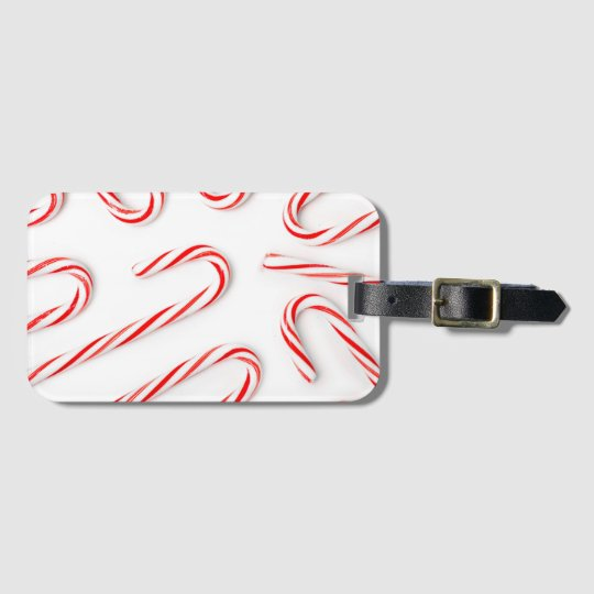 Stunning Christmas Candy Canes Luggage Tag