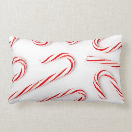 Stunning Christmas Candy Canes Lumbar Pillow