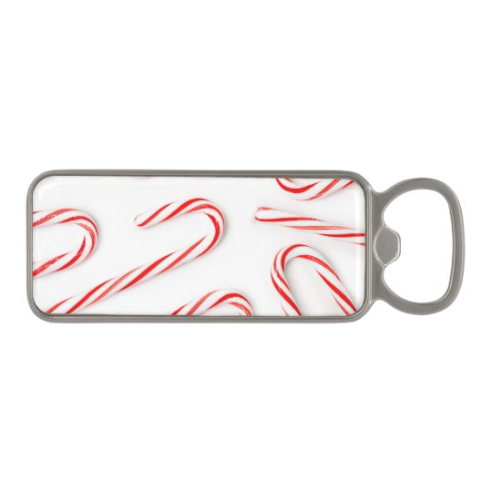 Stunning Christmas Candy Canes Magnetic Bottle Opener