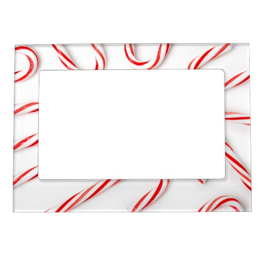 Stunning Christmas Candy Canes Magnetic Frame