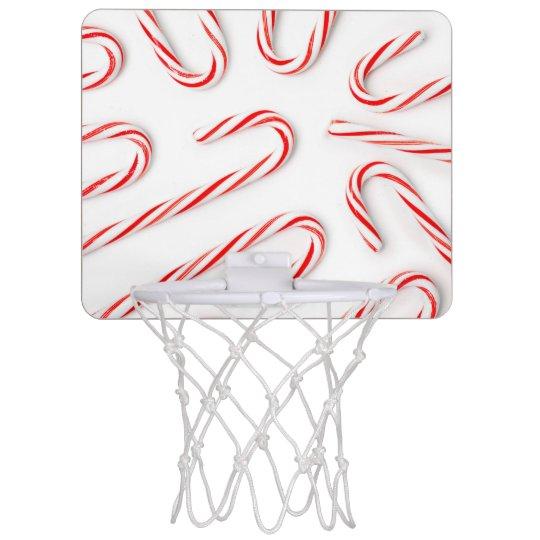 Stunning Christmas Candy Canes Mini Basketball Hoop