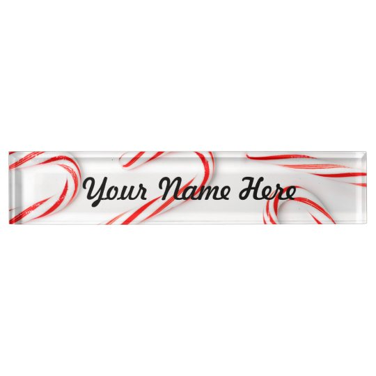 Stunning Christmas Candy Canes Nameplate